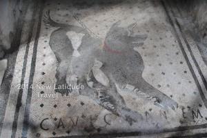 The famous Cave Canem floor mosaic - Pompeii