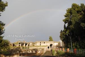 Rainbow over Pompeii