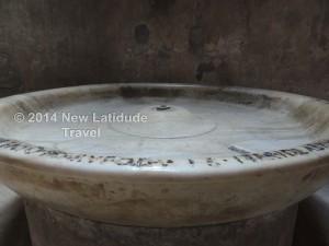 Fountain - forum baths at Pompeii
